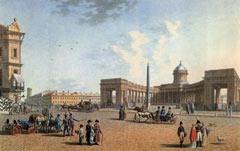 Б. Патерсен. Казанский собор со стороны Невского проспекта. 1810
