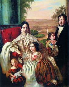 Н. Подключников. Семья Нащокиных. 1839