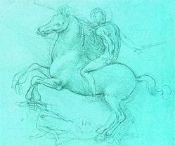 Набросок для конной статуи Франческо Сфорца