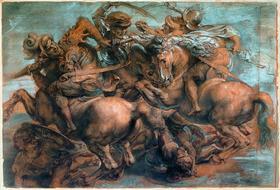 П. П. Рубенс. Битва при Ангиари. 1605. Копия с картона Леонардо