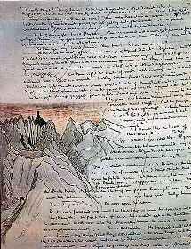 Страница рукописи Властелина Колец